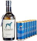 Windspiel Genusspaket London Dry Gin 47% vol. (1 x 0,5L) & Windspiel Tonic Water Dosen (6 x 200ml) - International ausgezeichneter London Dry Gin & Tonic Water Geschenkset
