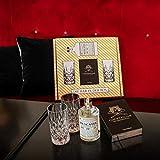 Die Bar in der Box - 1 Flasche 0,5 l Muscatel Distilled Gin, 1 Buch Cocktailian von Tre Torri, 2 Nachtmann Longdrink-Gläser, Gin Geschenkidee Geschenkset