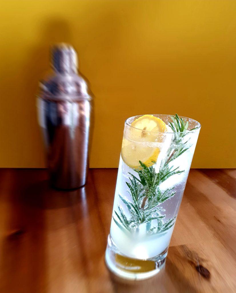 Gin Fizz mit Rosmarinzweig und Tanqueray No. Ten by Gin-kauf.de