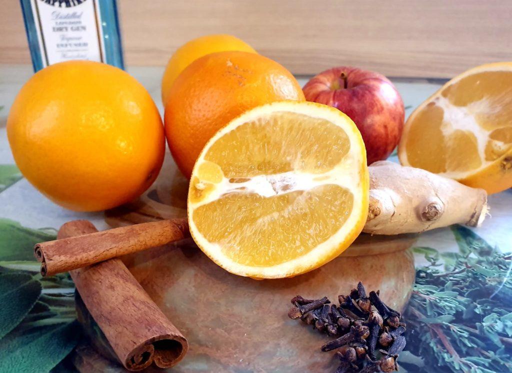 Glüh Gin Rezept - frische Zutaten by gin-kauf.de