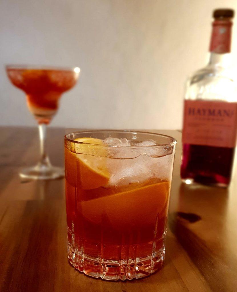 Sloe Gin Bitter Lemon Cocktail